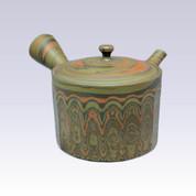 Tokoname Kyusu teapot - TOSEN - Kneading Chamfer - 290cc/ml - Refreshing steel net