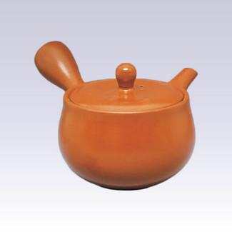 Tokoname Kyusu teapot - JINSUI - Shudei - 360cc/ml - Wide mesh steel net