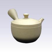 Tokoname Kyusu teapot - JINSUI - Under Black Blur - 330cc/ml - Wide mesh steel net