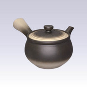 Tokoname Kyusu teapot - JINSUI - Black Blur - 300cc/ml - Wide mesh steel net
