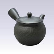 Tokoname Kyusu teapot - AKIRA - Black - 460cc/ml - Stainless steel net