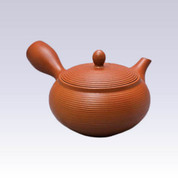 Tokoname Kyusu teapot - AKIRA - Line Step - 360cc/ml - Stainless steel net