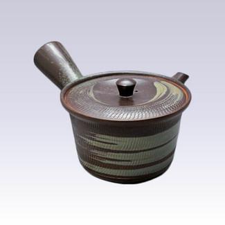 Tokoname Kyusu teapot - AKIRA - Brush Eyes - 360cc/ml - Stainless steel net