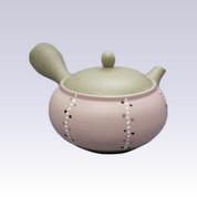 Tokoname Kyusu teapot - AKIRA - Polka Dots Tokusa - 360cc/ml - Stainless steel net
