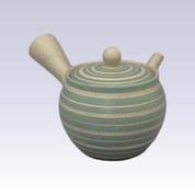 Tokoname Kyusu teapot - AKIRA - Green Line Step - 400cc/ml - Stainless steel net