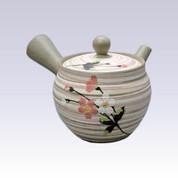 Tokoname Kyusu teapot - AKIRA - SAKURA - 400cc/ml - Stainless steel net