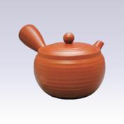 Tokoname Kyusu teapot - AKIRA - Thick Line Step - 460cc/ml - Obal ami stainless steel net