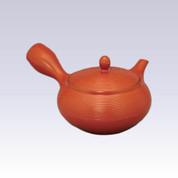 Tokoname Kyusu teapot - AKIRA - Line Step - 360cc/ml - Obal ami stainless steel net