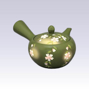 Tokoname Kyusu teapot - AKIRA - Weeping Cherry - 360cc/ml - Obal ami stainless steel net