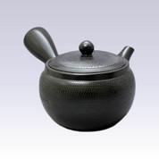 Tokoname Kyusu teapot - AKIRA - Black - 460cc/ml - Obal ami stainless steel net