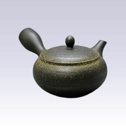 Tokoname Kyusu teapot - AKIRA - Gold Blow - 360cc/ml - Obal ami stainless steel net