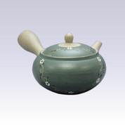 Tokoname Kyusu teapot - AKIRA - Vine Flower - 360cc/ml - Obal ami stainless steel net