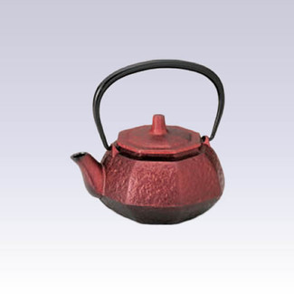 Nanbu Tetsubin - Pearl Red - 0.3 Liter : Japanese cast iron teapot