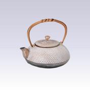 Nanbu Tetsubin - White Butterfly - 0.4 Liter : Japanese cast iron teapot