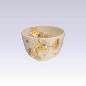 Kyo-yaki - Matcha bowl - Gold SAKURA with box
