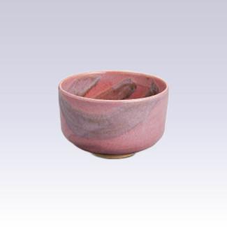 Arita-yaki - Matcha bowl - PINK-HAKE