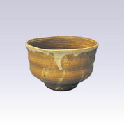 Tokoname-yaki - Matcha bowl - KONSEI - BROWN GLAZE with wooden box