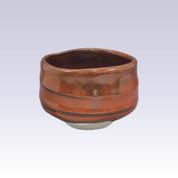 Mino-yaki - Matcha bowl - IRON RED