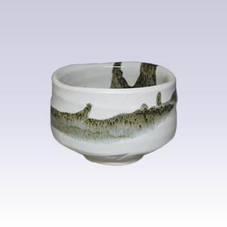 Mino-yaki - Matcha bowl - WHITE LACQUER GLAZE
