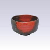 Mino-yaki - Matcha bowl - RED BLOW-TENMOKU