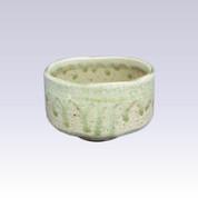 Mino-yaki - Matcha bowl - GREEN GLAZE