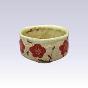 Mino-yaki - Matcha bowl - RED PLUM