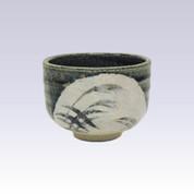 Tokoname-yaki - Mini matcha bowl - Bidro Susuki grass
