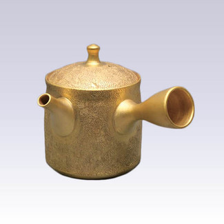 [Heritage grade] Tokoname Kyusu teapot - SHORYU - The Golden Zipangu - 210cc/ml - Ceramic fine mesh with wooden box