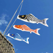 Koinobori Japanese Carp Streamer - 3 color - 2m/2.19yd - Dragon gate