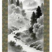 Mini Kakejiku - landscape - Japanese small hanging scroll