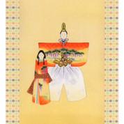 Mini Kakejiku - Hinamatsuri Girl's festival - Japanese small hanging scroll