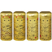 Kukicha green tea stems 22g (0.78oz) in Golden Maiko Can (L) - 4 design