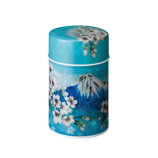 Shippoh-Fuji steel tea caddy can S