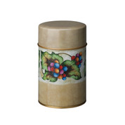Shippoh-Budoh steel tea caddy can - for tea leaf