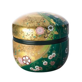 Green - Suzuko-Hanafubuki steel tea caddy can