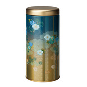 Blue - Hanatsukiyo steel tea caddy can