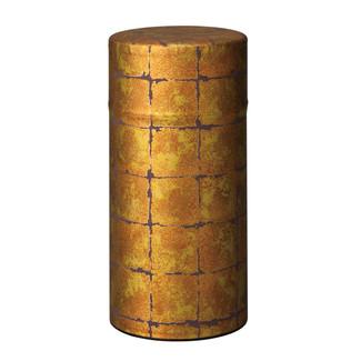 Gold1- Hikarikouji washi paper tea can caddy