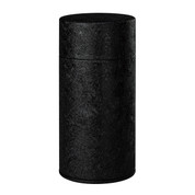 Black - Rock steel tea caddy can