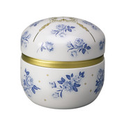 Suzuko-Bell rose steel tea caddy can