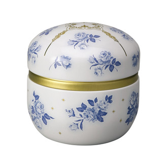 Suzuko-Bell rose steel tea caddy can