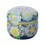 Blue - Suzuko-Marine steel tea caddy can