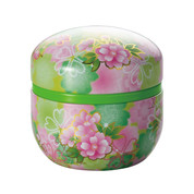 Green - Suzuko-Hiyori steel tea caddy can