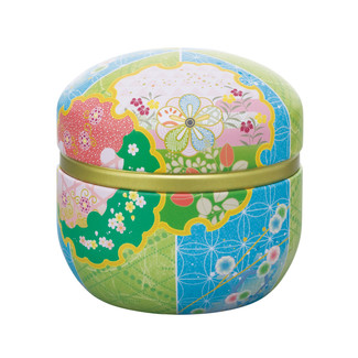 Blue - Suzuko-Beanbag steel tea caddy can