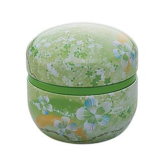 Green - Suzuko-Urara steel tea caddy can