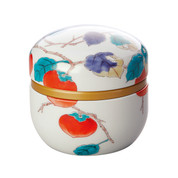 Navy - Suzuko-Arita Persimmon steel tea caddy can