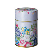 S/Mauve - Lotus flower steel tea caddy can