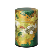 Green - Ginga steel tea caddy can