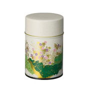 Green - Nadeshiko steel tea caddy can