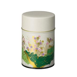 Green - Nadeshiko steel tea caddy can