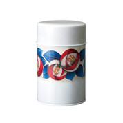 Shippoh-Tsubaki Camellia steel tea caddy can